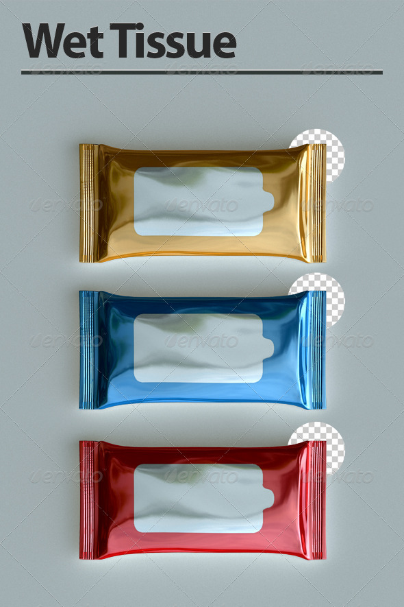 Wet Tissue - Objects 3D Renders