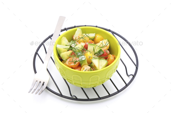 Tomato Cucumber Dill - Stock Photo - Images