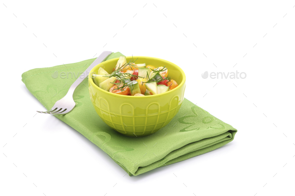 Tomato Salad with Fresh Dill - Stock Photo - Images