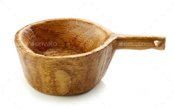empty wooden bowl - Stock Photo - Images