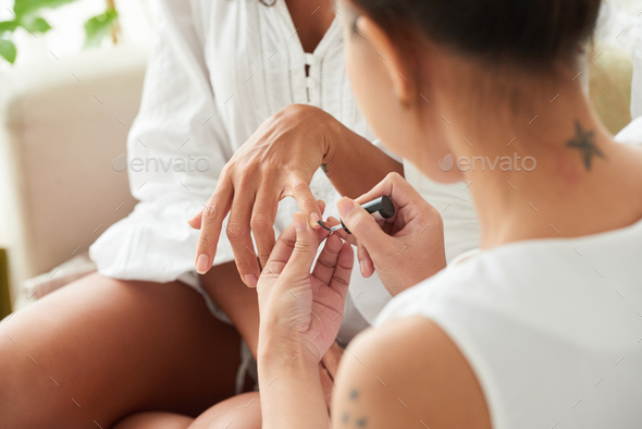 Painting nails - Stock Photo - Images