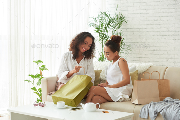 Boasting of purchases - Stock Photo - Images