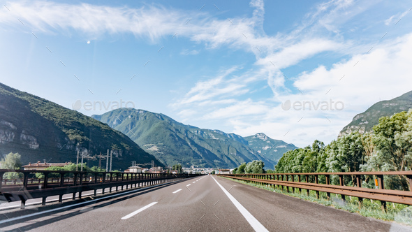 Mountain road. Mountain range. The road in the mountains. Roadway in the mountains. - Stock Photo - Images