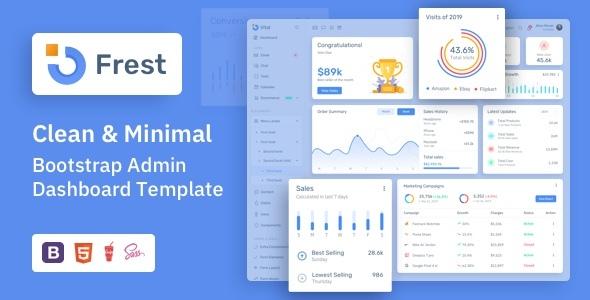 Frest - Clean & Minimal Bootstrap Admin Dashboard Template