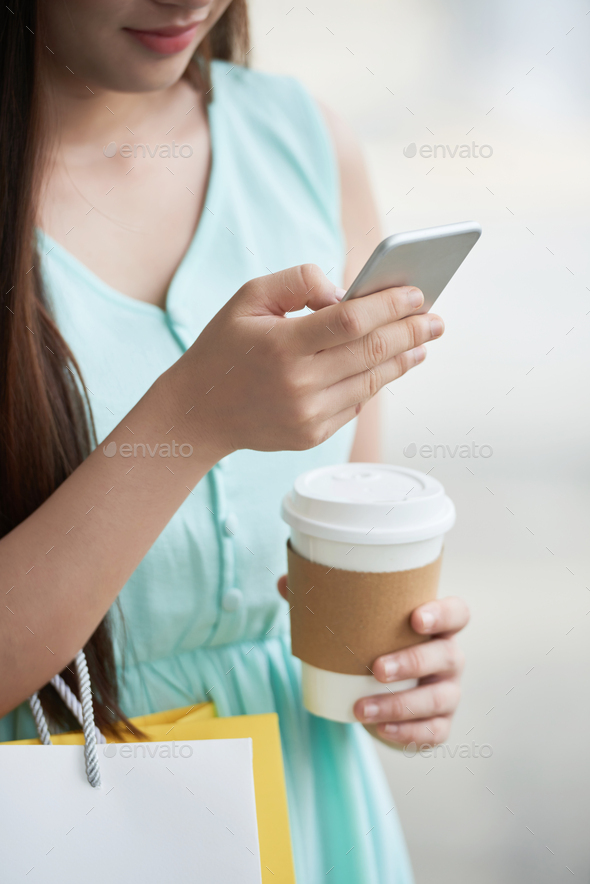 Checking messages - Stock Photo - Images
