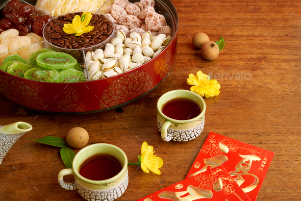 Tea and snacks for Tet - Stock Photo - Images