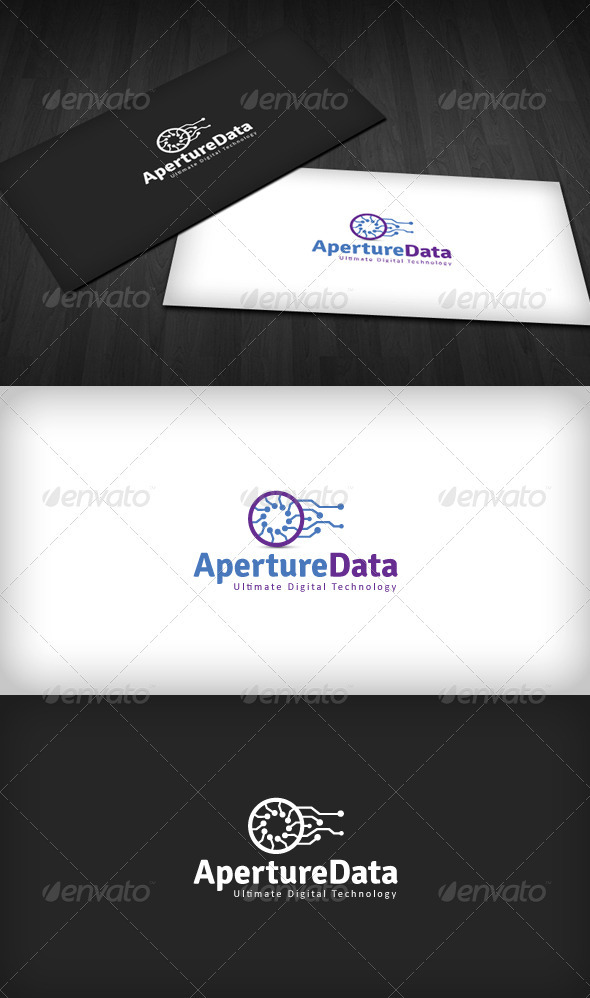 Aperture Data Logo - Vector Abstract