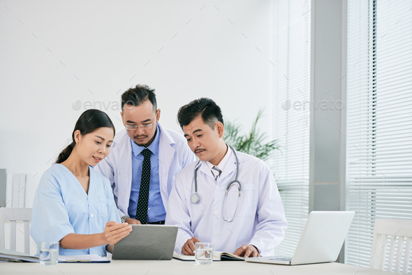 Meeting of medical workers - Stock Photo - Images