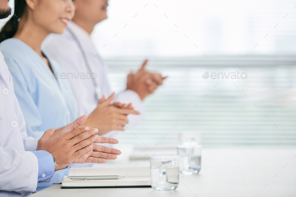 Clapping medical workers - Stock Photo - Images