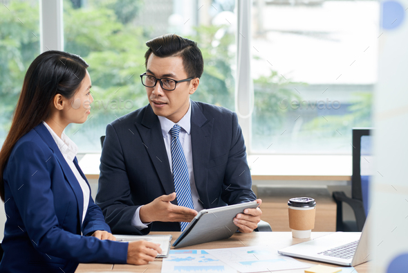 Business people having meeting - Stock Photo - Images