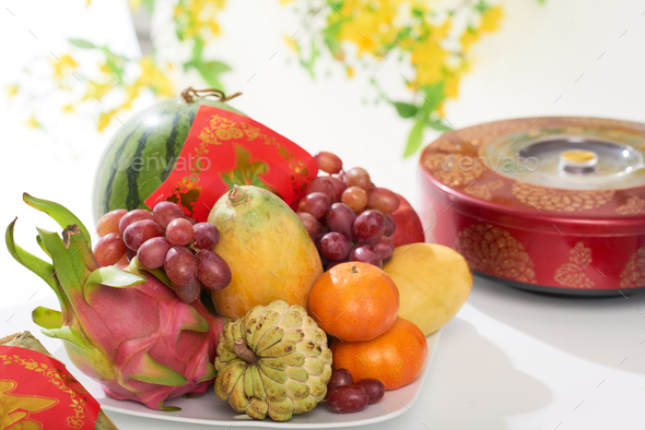 Healthy snacks for spring festival - Stock Photo - Images