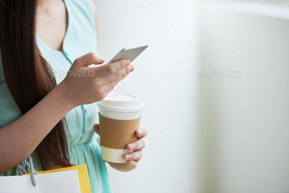 Answering text messages - Stock Photo - Images