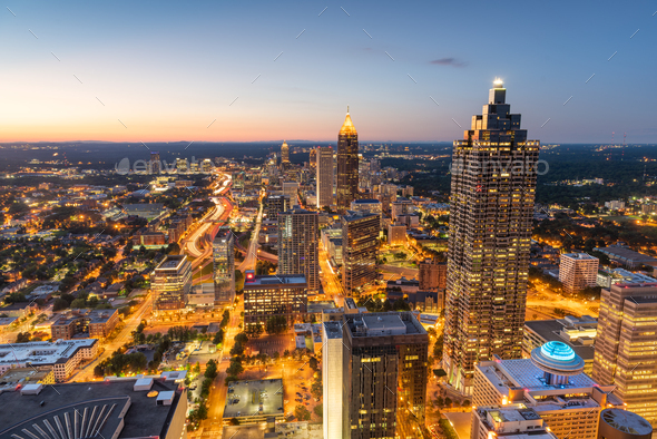 Atlanta, Georgia, USA Downtown Skyline - Stock Photo - Images
