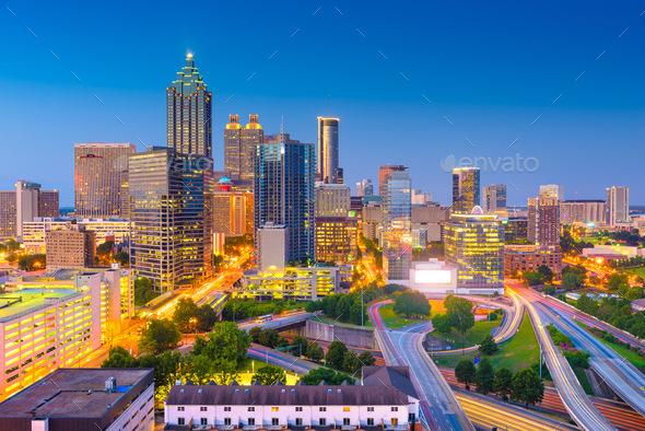 Atlanta, Georgia, USA Downtown Cityscape - Stock Photo - Images