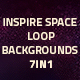 Inspire Space Loop Background 7in1 - VideoHive Item for Sale