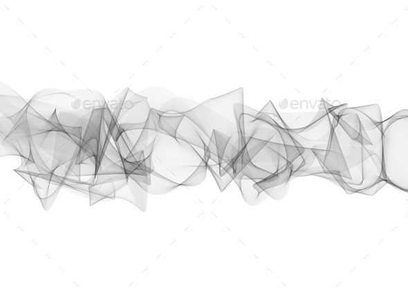 Abstract curved black lines on white - Stock Photo - Images