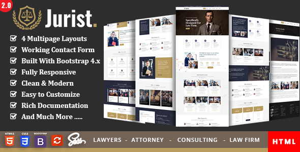 Jurist - Law and Lawyer by ThemeMascot