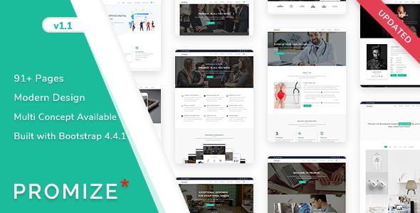 Promize - Responsive Creative Multipurpose Template by ShreeThemes