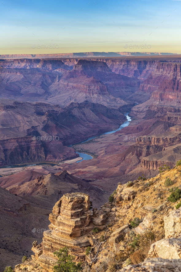 Grand Canyon During Sunset - Stock Photo - Images