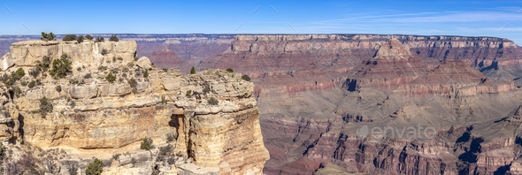 Grand Canyon Landscape from Moran Point - Stock Photo - Images