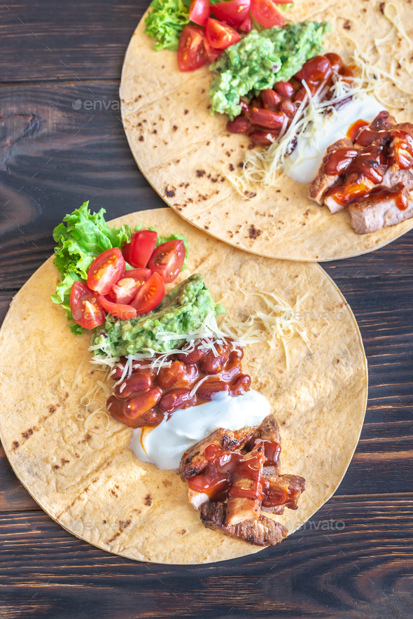 Tacos with fillings - Stock Photo - Images