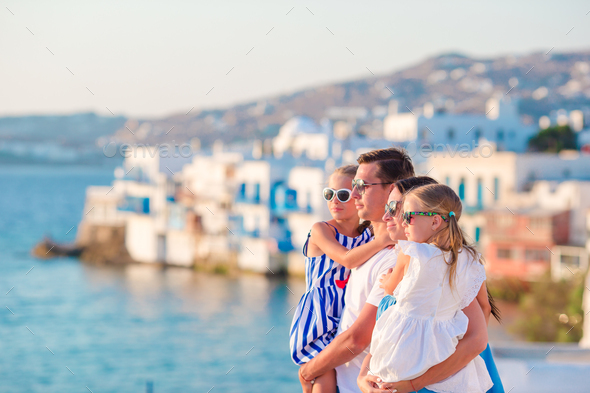 Family on vacation in Europe - Stock Photo - Images