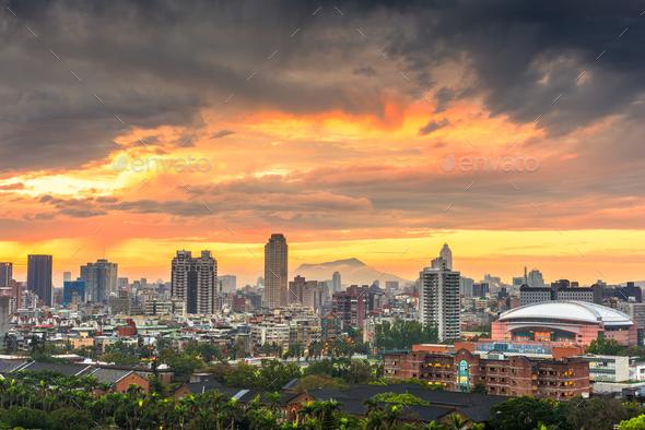 New Taipei City, Taiwan Cityscape - Stock Photo - Images