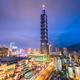 Taipei, Taiwan city skyline at twilight. - PhotoDune Item for Sale