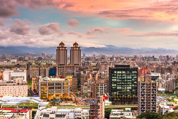 Taipei, Taiwan in Xinyi District - Stock Photo - Images