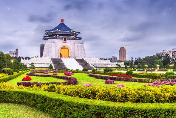 The Chiang Kai-Shek Memorial in Taipei, Taiwan - Stock Photo - Images