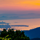 Panoramic view of Da Nang City and Ba Na mountains at sunset, Vietnam - PhotoDune Item for Sale