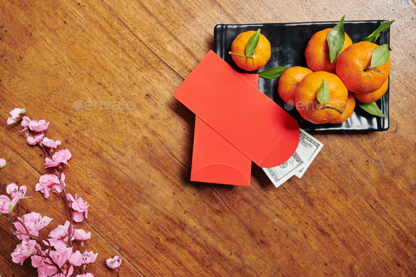 Chinese New Year flatlay - Stock Photo - Images