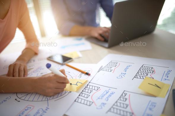 Preparing diagrams - Stock Photo - Images