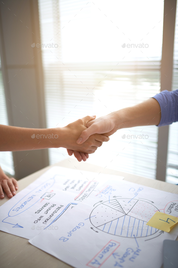 Greeting business partner - Stock Photo - Images