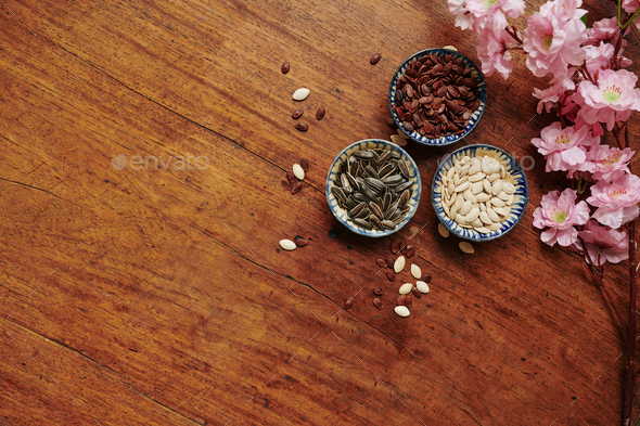 Various seeds for spring festival - Stock Photo - Images