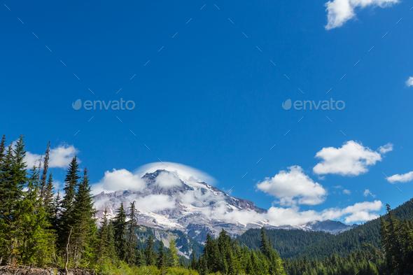 Mt Rainier - Stock Photo - Images