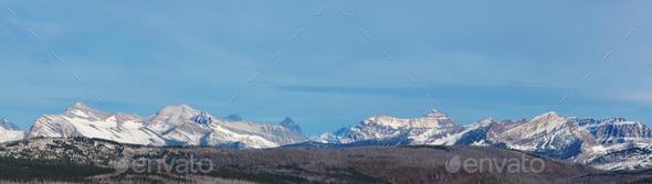 Winter in Glacier Park - Stock Photo - Images
