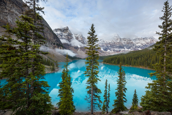 Moraine lake - Stock Photo - Images
