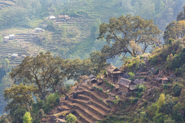 Village in Nepal - Stock Photo - Images
