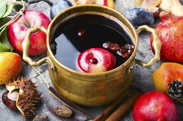 Sangria fruit wine. - Stock Photo - Images