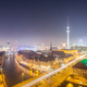 View over Berlin Alexanderplatz at night - PhotoDune Item for Sale
