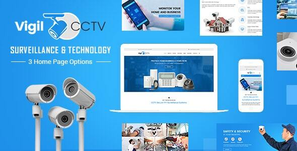 Vigil - CCTV, Home Security WordPress Theme