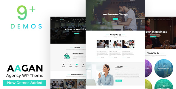 Aagan - Agency, Startup WordPress Theme