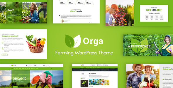 Orga - Organic Farm & Agriculture WordPress Theme