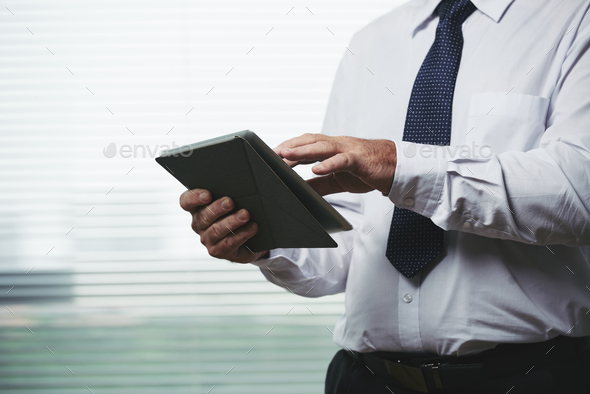 Using business app - Stock Photo - Images