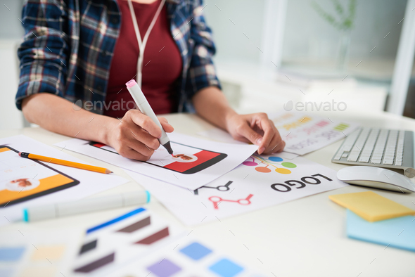 Making Wall Newspaper at Home - Stock Photo - Images