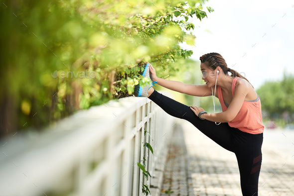 Stretching girl - Stock Photo - Images