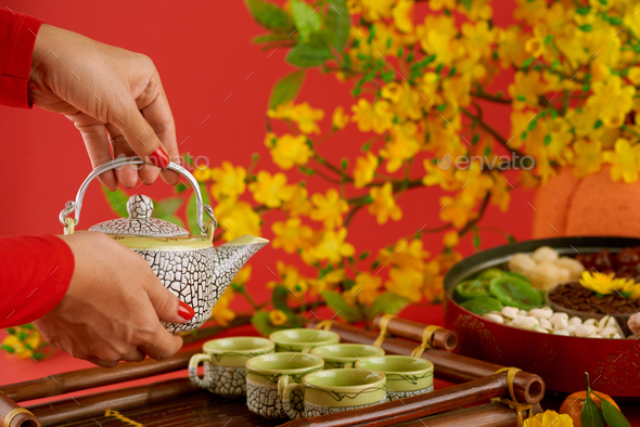 Serving table for Tert - Stock Photo - Images