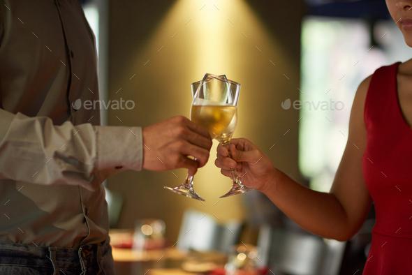 Toasting couple - Stock Photo - Images