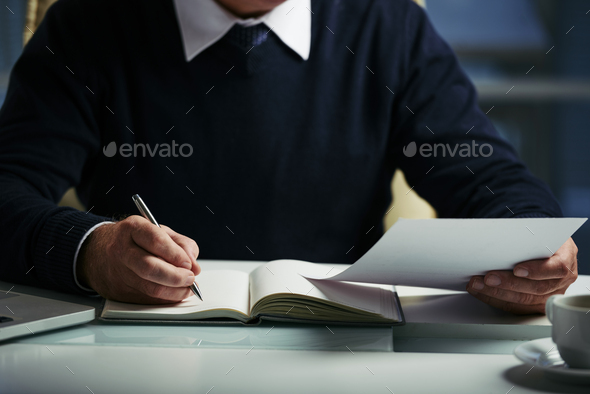Writing down ideas - Stock Photo - Images